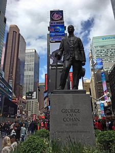 George M Cohan in Times Square