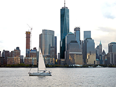 Sailboat and 1 World Trade Center