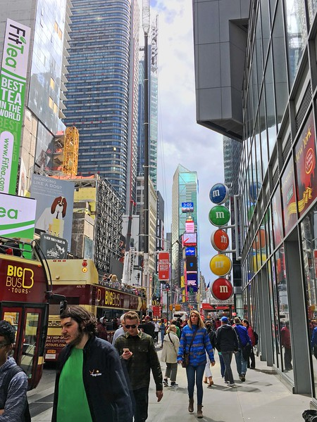 Seventh Avenue, approaching Times Square