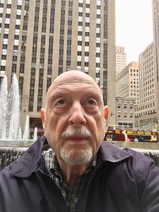 That's Rockefeller Center (Sixth Avenue) behind me