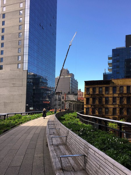 New buildings along the High Line