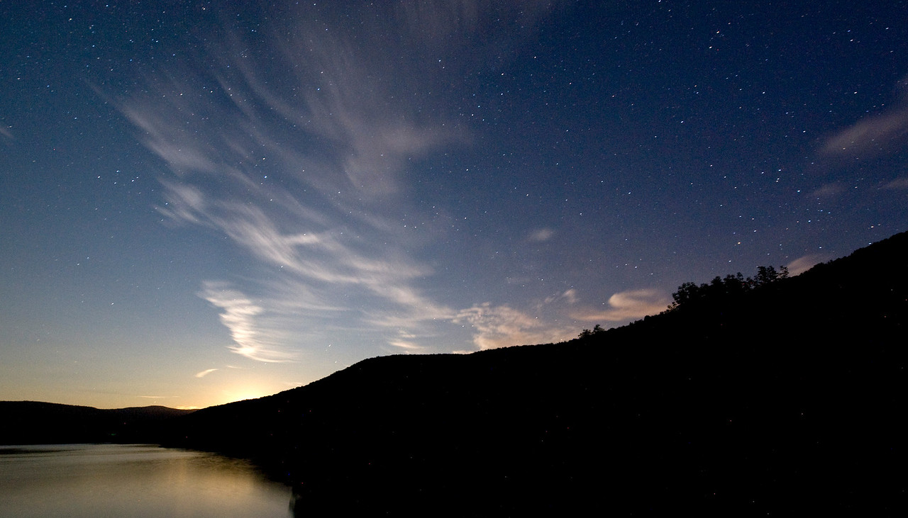 Moonrise over the Pepacton Reservoir
