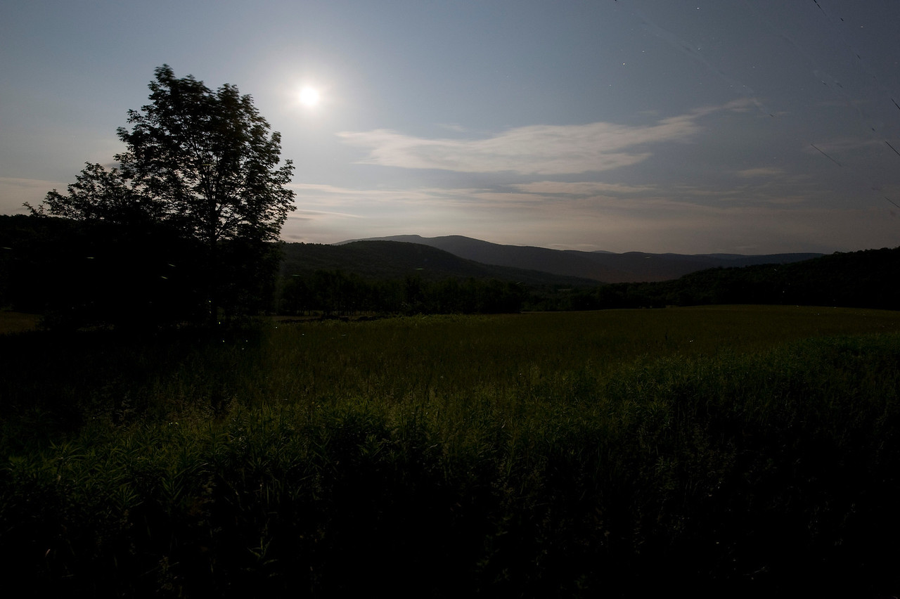 Supermoon over the Catskills