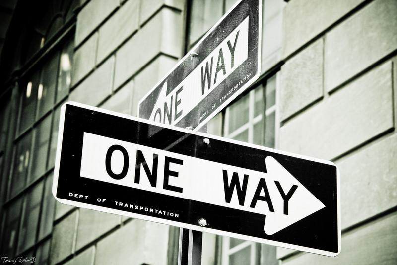 One Way, New York, USA