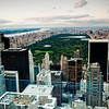 Central park from Rockefeller center, New York, USA