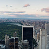 Sunset view on Manhattan, central park from Rockefeller center, New York, USA