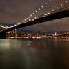 Brooklyn bridge in the evening, New York, USA