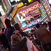 Young people, Times Square, New York, USA
