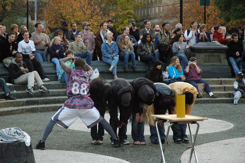 Performers at Washington Square park.