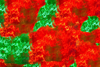 Abstract light background in green and red