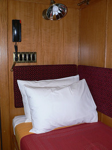 """Top end of the bed in my """"cabin"""""""