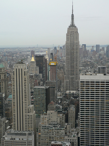 "View from ""Top of the Rock"" - New York's canyons"