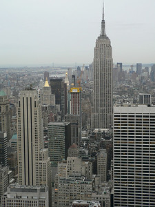 """View from """"Top of the Rock"""" - New York's canyons"""