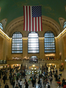 Inside Grand Central Station - glad I wasn't trying to catch a train among all the snap-happy tourists