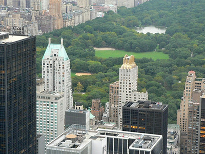"""View from """"Top of the Rock"""" - Central Park is indeed central!"""
