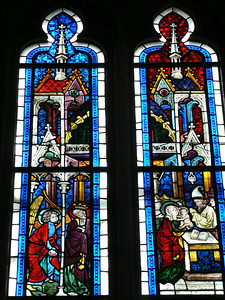 Some beautiful stained glass, too
