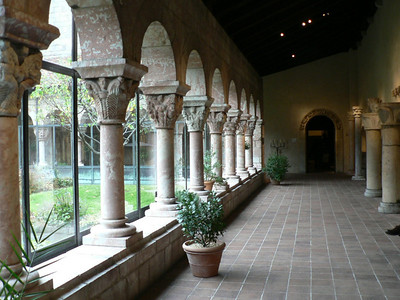One of the four cloisters (removed from European monasteries) at the Met's Cloisters Museum