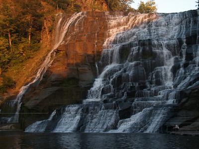 Ithaca Falls, man reading (Ithaca, NY)  - 9/24/2010