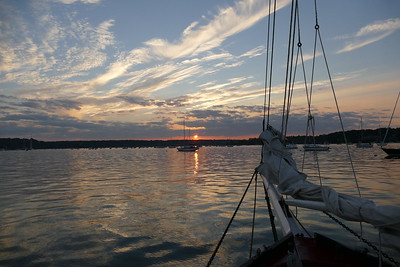Sunset in Oyster Bay Harbor from the Christeen