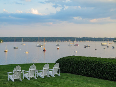 View of Oyster Bay Harbor from the Seawanhaka Corinthian YC