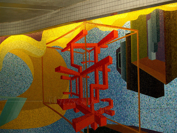 Mosaic inside NYC subway system