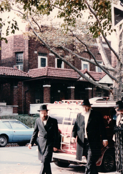 Orthodox Jews Going to Synagogue on Sabbath 10/19/85
