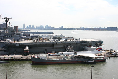 The Intrepid Museum on the Hudson River