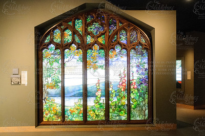 Stained Glass Window from Rochroane Castle, Irvington-on-Hudson, New York Tiffany Studios, Studio  Tiffany, Louis Comfort ((American, 1848-1933)), Maker  A. H. Heisey & Co., Maker