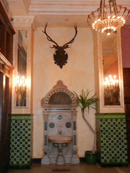I stayed at the Jane again. Its lobby is from an earlier era.