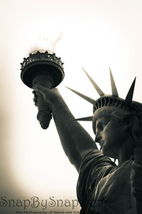 Looking up at the Statute of Liberty