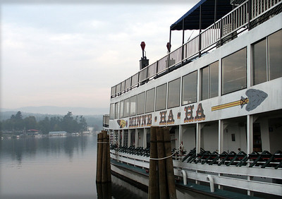 Out on the water - the most enjoyable, reasonably priced way to appreciate the mountainous beauty of Lake George. From the decks of a sternwheel steamboat, 'Minne-Ha-Ha' ~ Aboard the 1908 steamer 'Mohican' ~ Luncheon or dinner on the 1,250 passenger 'Lac du Saint Sacrement'