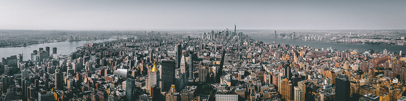 Panoramic View from the top of the Empire State Building