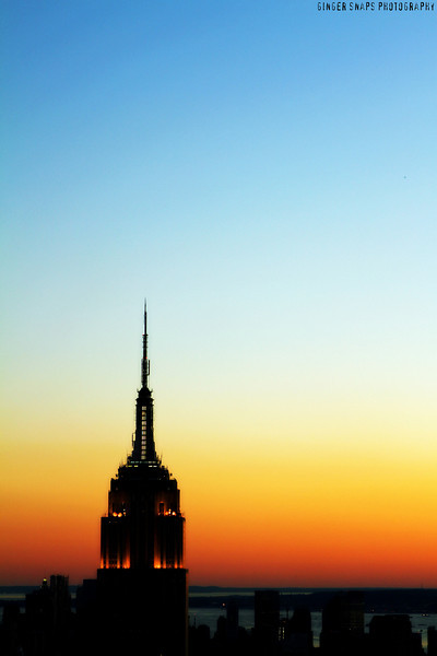 Sunset on the Empire State Building.
