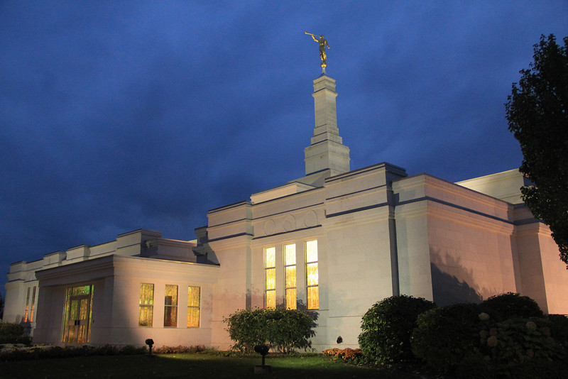 Palmyra, New York temple. For those of you who are not familiar with LDS temples, it is a sacred building. In the temple, members can be sealed (or married) to their spouse for time and all eternity. Worthy members can also be sealed for time and eternity to their children. you can learn more at lds.org or mormon.org