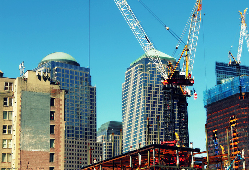 The building has begun at Ground Zero.  The beginnings of the new Freedom Towers.