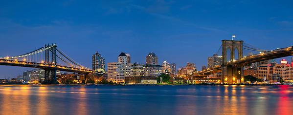 Manhattan & Brooklyn Bridge Panorama.