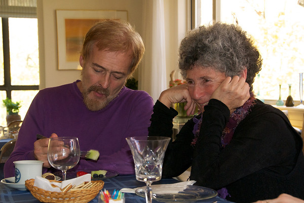 Karen and Pierre enjoying brunch and stories about the Margolius clan