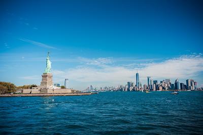 Miss Liberty et la Skyline