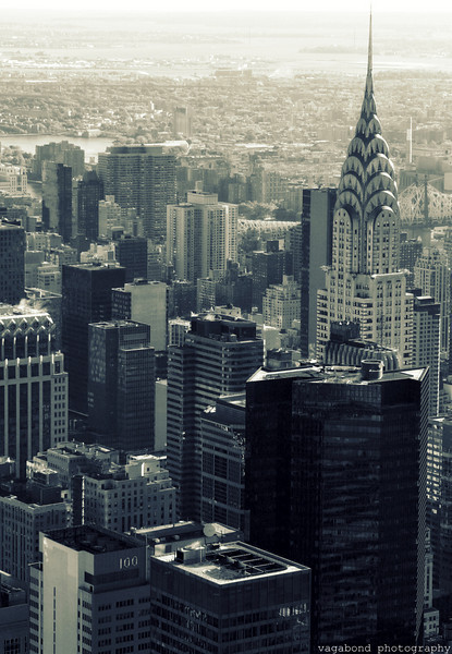Chrysler Building skyline.