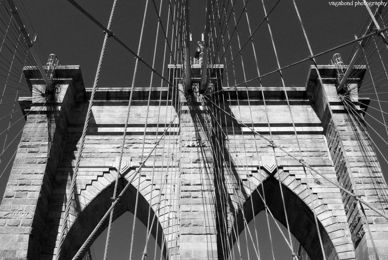 The Brooklyn Bridge has a great graphic quality in black and white.