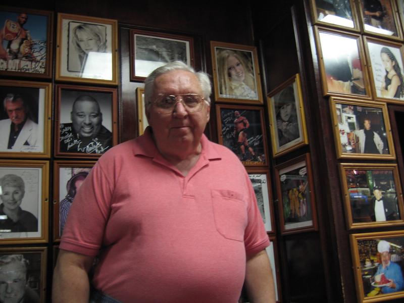 Dad at Carnegie Deli