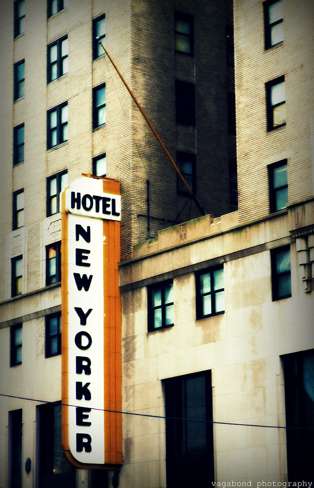The art deco Hotel New Yorker at Penn Station.