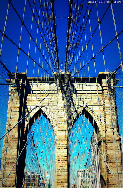 The iconic Brooklyn Bridge