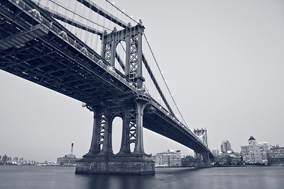 Manhattan Bridge, New York City.