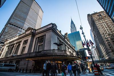 Grand Central Station, MetLife Building and Chrysler Building