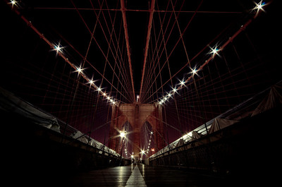 Brooklyn Bridge, DUMBO, New York, New York State, United States