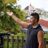 Shaloh speaking on the history  of the Ohinemutu Maori Tribe