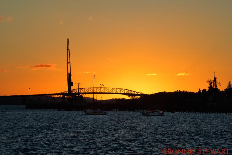 Auckland Bridge Sunset