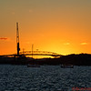Auckland Bridge Sunset