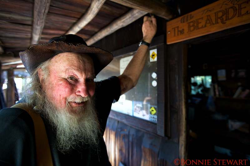 Old Miner in Traditional Clothing
